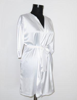 Halat satinat Bride, alb – AGB1101