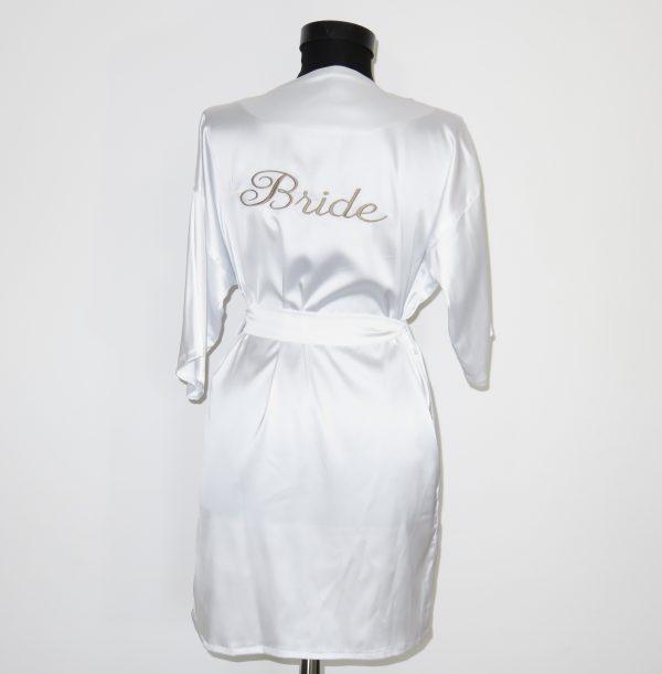 Halat satin alb Bride 23h Events