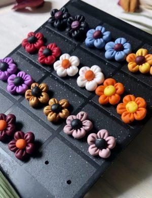 """Cercei din fimo """"Floricele"""", AHGL12977"""