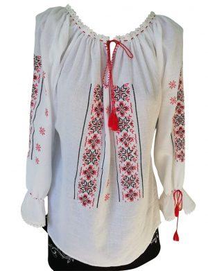 Ie romaneasca stilizata dama, bumbac 100% de calitate superioara, brodata cu motive traditionale – LLDJ10121