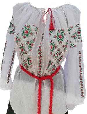 Ie romaneasca stilizata dama, bumbac 100% de calitate superioara, brodata cu motive traditionale – LLDJ10127