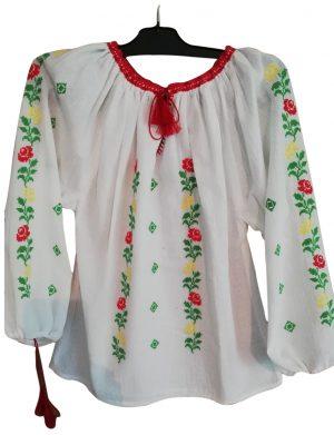 Ie romaneasca stilizata dama, bumbac 100% de calitate superioara, brodata cu motive traditionale – LLDJ10126