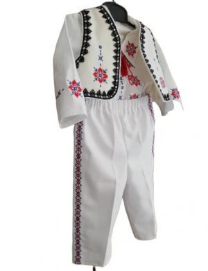 Costumas traditional de botez pentru baietel LC014