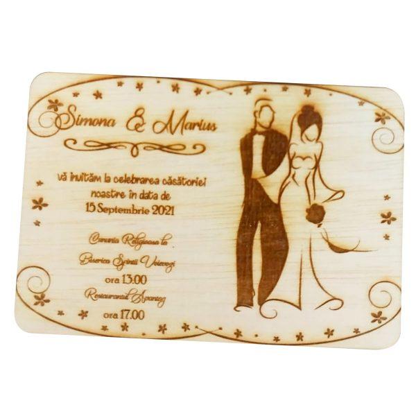 Invitatie nunta placaj OMIS 23hEvents 1