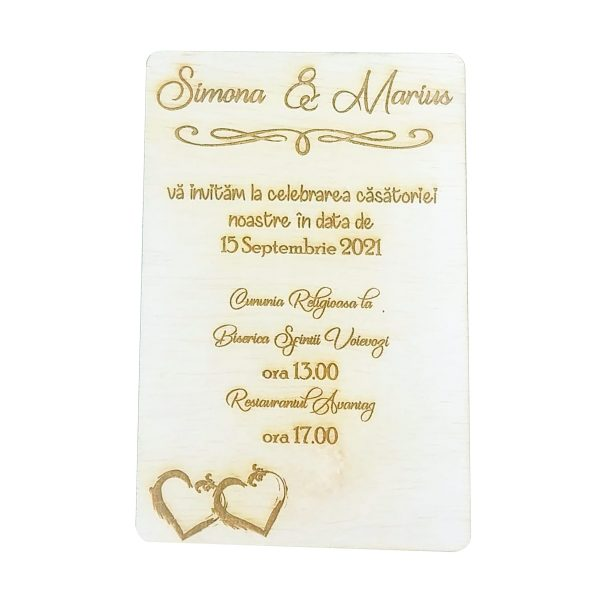 Invitatie nunta placaj OMIS 23hEvents 3