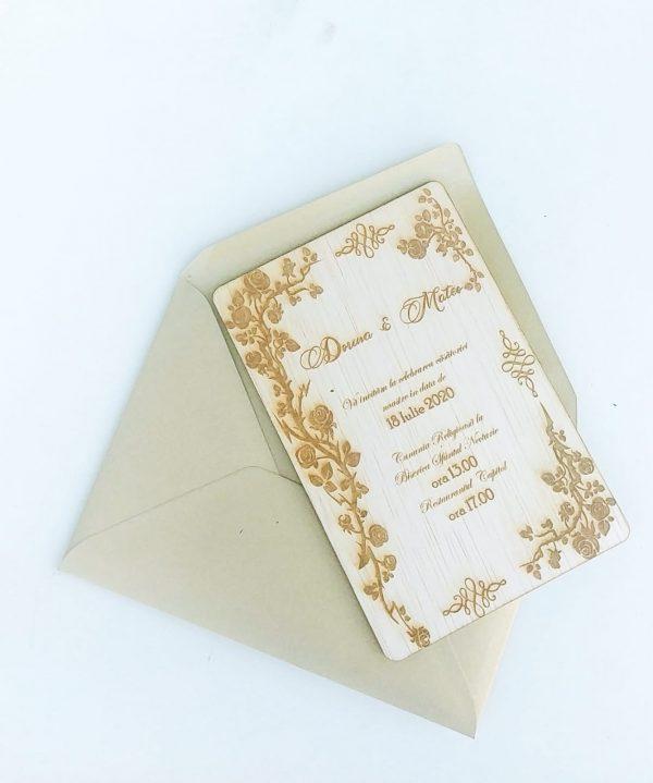 Invitatie nunta placaj OMIS 23hEvents 4