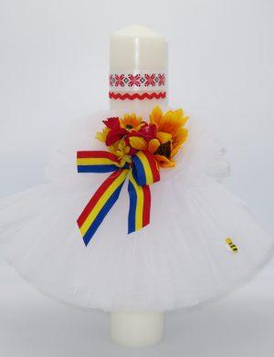 Lumanare botez, model traditional Fetita – ILIF1823