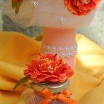 Lunmanare botez cu flori si dantela