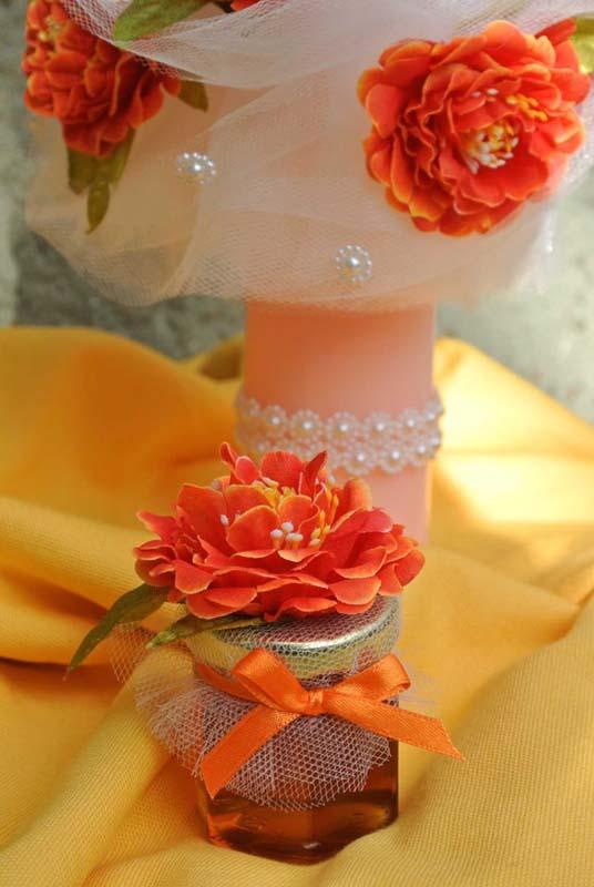Lunmanare botez cu flori si dantela 2