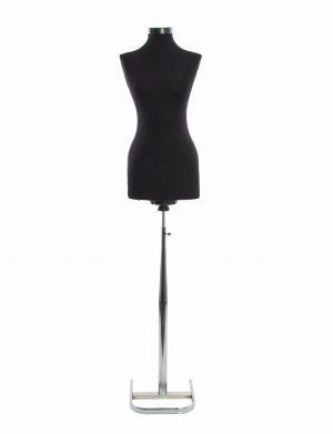 Manechin dama, negru cu picior metalic – ILIF1826