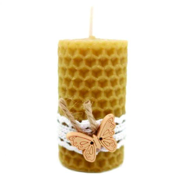 Marturie botez lumanare din ceara de albine fluturas 23h Events 1