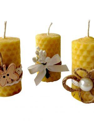 Marturii lumanari din ceara de albine- handmade DM050