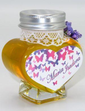 "Marturii dulci cu miere, model handmade ""Adiereâ€� – mov, borcan 90 gr – DSBC1617"