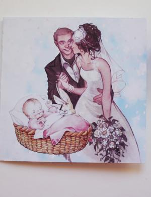 Invitatie nunta pe suport mat sau lucios OPIS061
