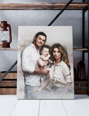 Tablou canvas personalizat Aquarelle Style, dim. 40×53 cm – OPB1937
