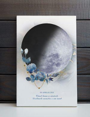 Tablou canvas Moon Art, dim. 40×60 cm, OPB1101