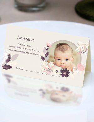 Plic de dar pentru botez Andreea flower, dim. 200×110 mm – OPB1929