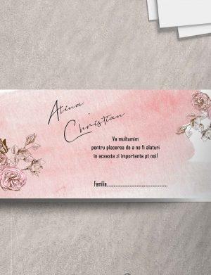 Plic de dar pentru nunta Pink Rose, dim. 200×110 mm – OPB1935