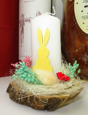 Cos cadou traditional Paste, Revedere cu Drag, 4 piese, produse naturale, ILIF145