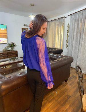 Pantaloni crep negru AGS01214