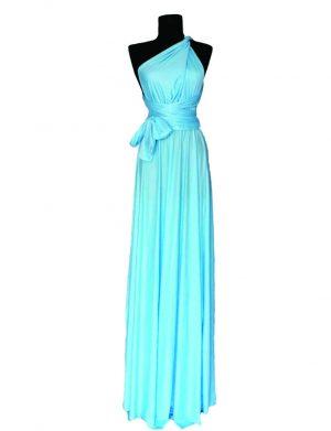 Rochie versatila lunga, bleu, ACD142