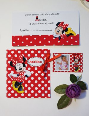 Invitatie botez Minnie Mouse OPIS069