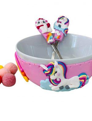 Set Bol si Tacamuri Personalizat Unicorn&Pisica, YODB21218