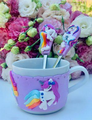 Set Bol, Cana si Tacamuri Personalizat Unicorni, YOB21219