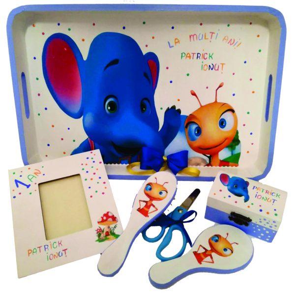 Set Mot Aniversare 1 an elefantul cici