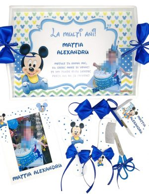 Set Mot Baby Mikey, 7 piese, personalizat cu nume si data, DSPH168