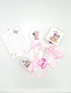 Set Baby Minnie, 7 piese, pentru fetite, nepersonalizat, livrare in 48 de ore, DSPH301