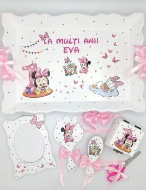 Set Tavita Mot Baby Minnie, 7 piese, personalizat cu nume si data