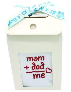 Set cadou bebelusi Mom + Dad = Me, 6 piese pentru fetita – ILIF009