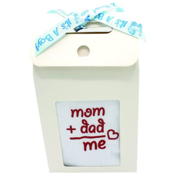 Set cadou bebelusi Mom Dad Me 6 piese pentru baietel ILIF001