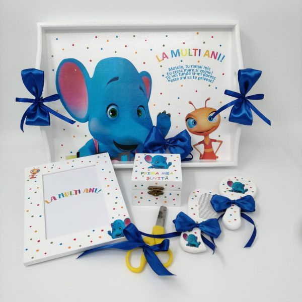 Set tavita mot Elefantul Cici si Furnicuta aniversare 1 an turta 23h Events 3