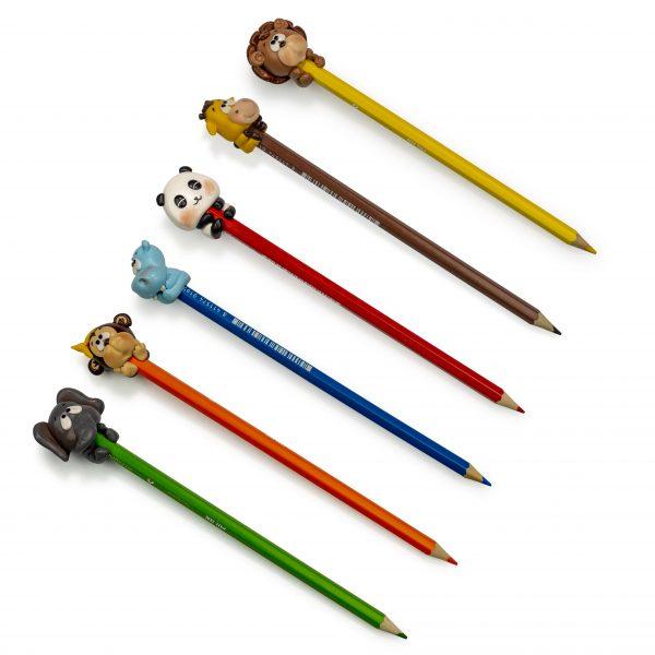 Suport Lemn 6 Creioane Decorate Cu Fimo 2 scaled