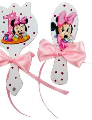 Set Tavita Mot (turta), Baby Minnie, aniversare 1 an, 7 piese, personalizat, DSPH1631