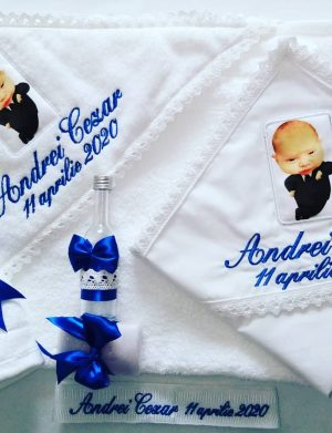 Trusou botez Baby Boss format din 7 piese, personalizat – AAPH002