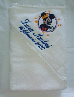 Trusou botez Mickey Mouse format din 9 piese, personalizat – AAPH006