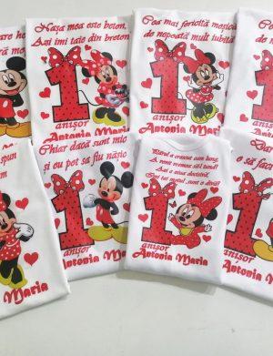 Set 7 tricouri plus 1 body personalizate, pentru familie, aniversare 1 an copil, ACD1621
