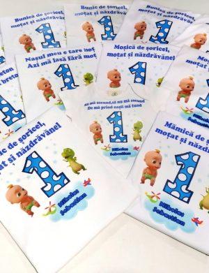 Set 11 tricouri plus 1 body personalizate, pentru familie, aniversare 1 an copil, ACD1618
