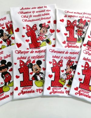 Set 8 tricouri, pentru familie, aniversare 1 an copil, ACD1623