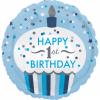balon folie 45 cm 1st birthday cupcake boy 1