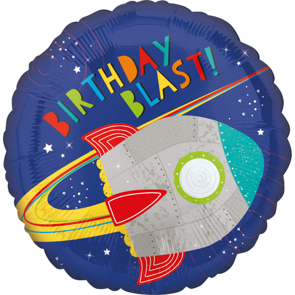 balon folie 45 cm racheta birthday blast 1