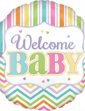 Balon folie 45 cm Welcome Baby Colors FTB041