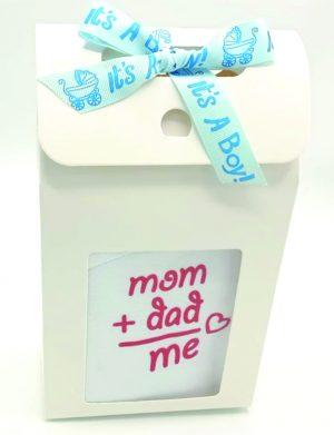 Set cadou bebelusi Mom + Dad = Me, 6 piese pentru baietel – ILIF001