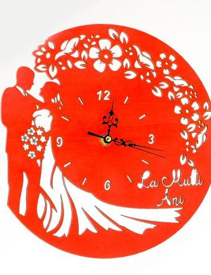 Ceas aniversar de nunta rosu – OMIS01252
