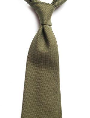 Cravata bumbac olive