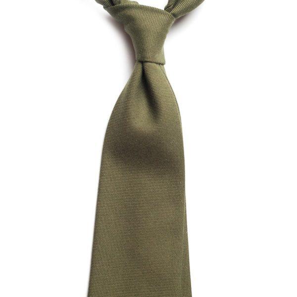 cravata bumbac olive c457 9784 4