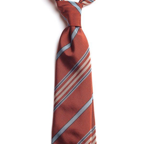 cravata matase caramizie model dungi c220 2779 4